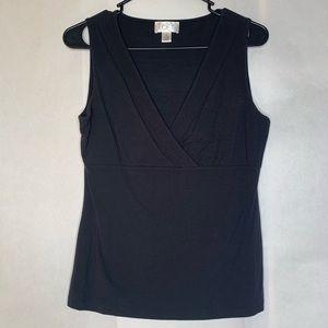 Ann taylor black v neck tank top